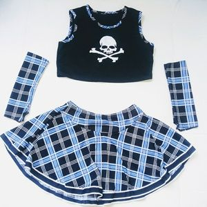 Other - 3 piece gothic Cheerleading outfit